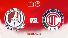 Atlu00e9tico San Luis vs Toluca   Liga MX   Jornada 10