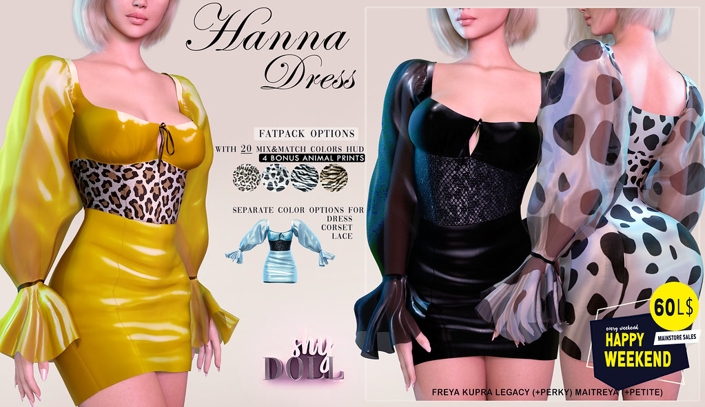 Hanna dress 60L$ for Happy Weekend sale