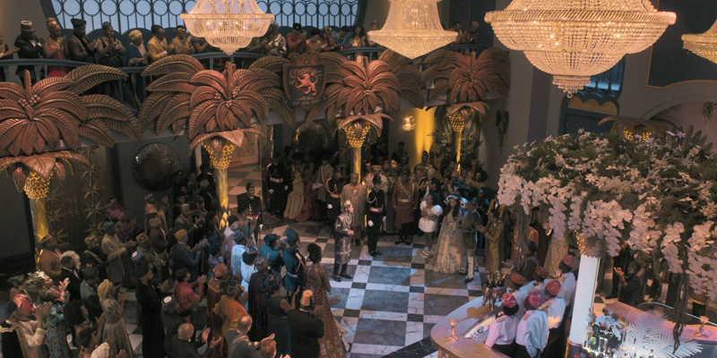 La escena de la fiesta del funeral