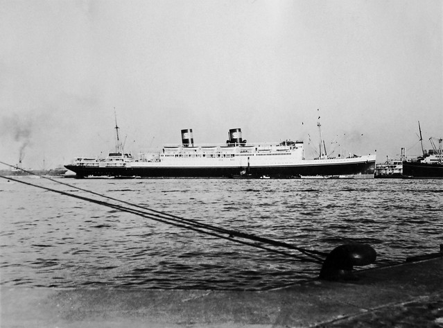 SS President Coolidge, ready for departure to Japan, Shanghai, 1936