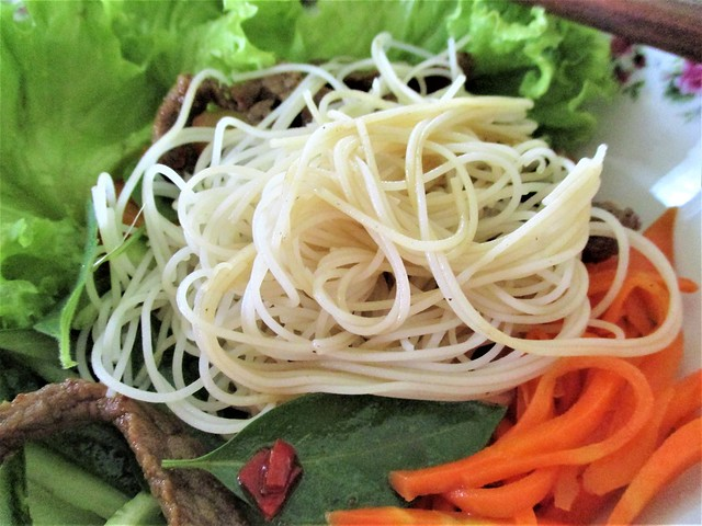 With brown rice noodles