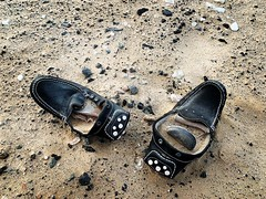 Shoes and sand