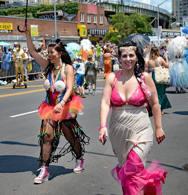 TWO WOMEN-NYC Coney Island Mermaid Parade
