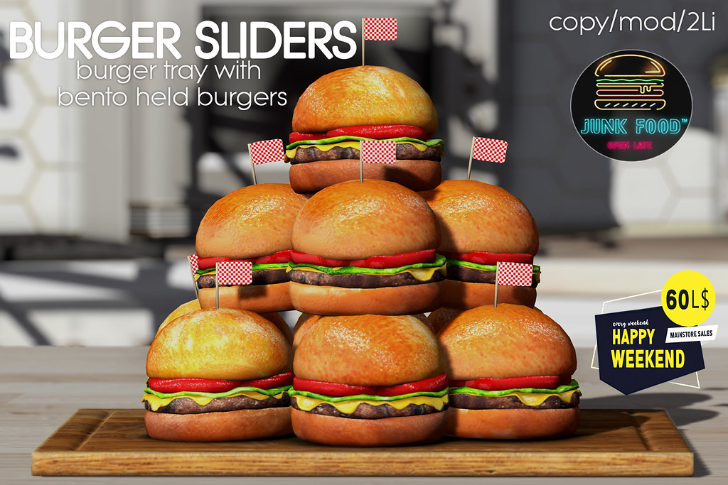 Junk Food - Burger Sliders Ad HW