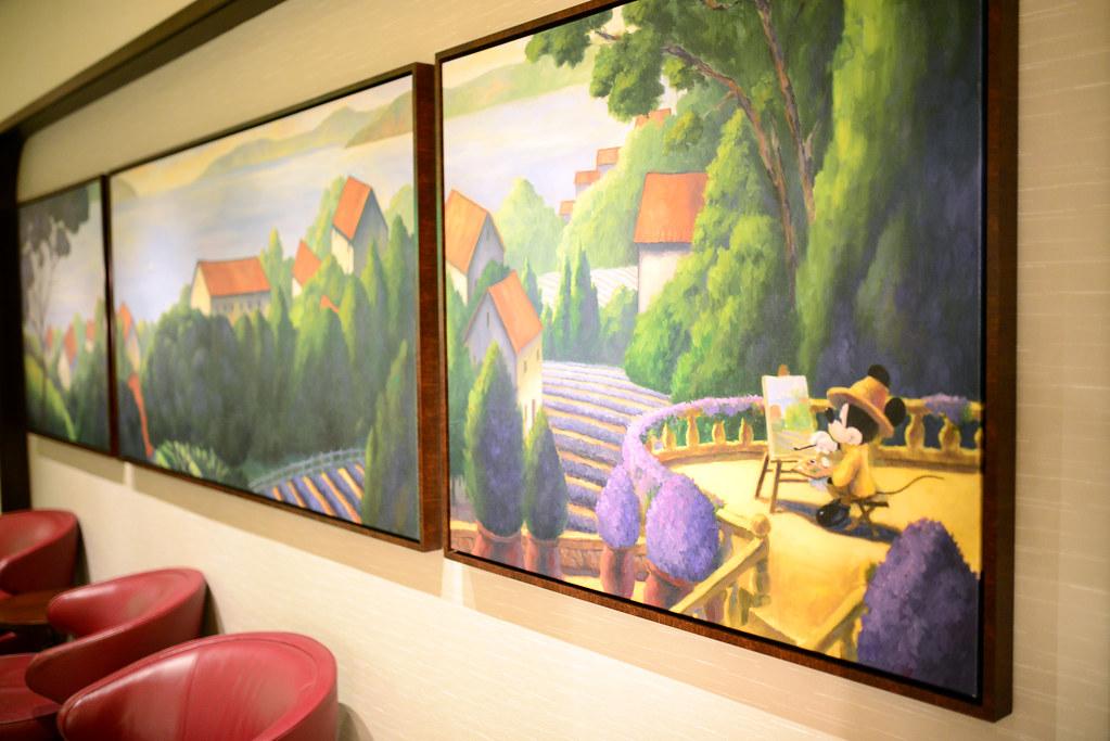 Topolino's Terrace painting Mickey
