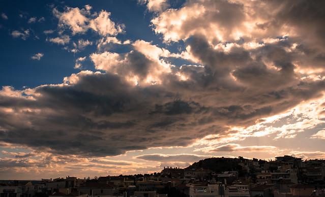 cloudy sky over the neighborhood
