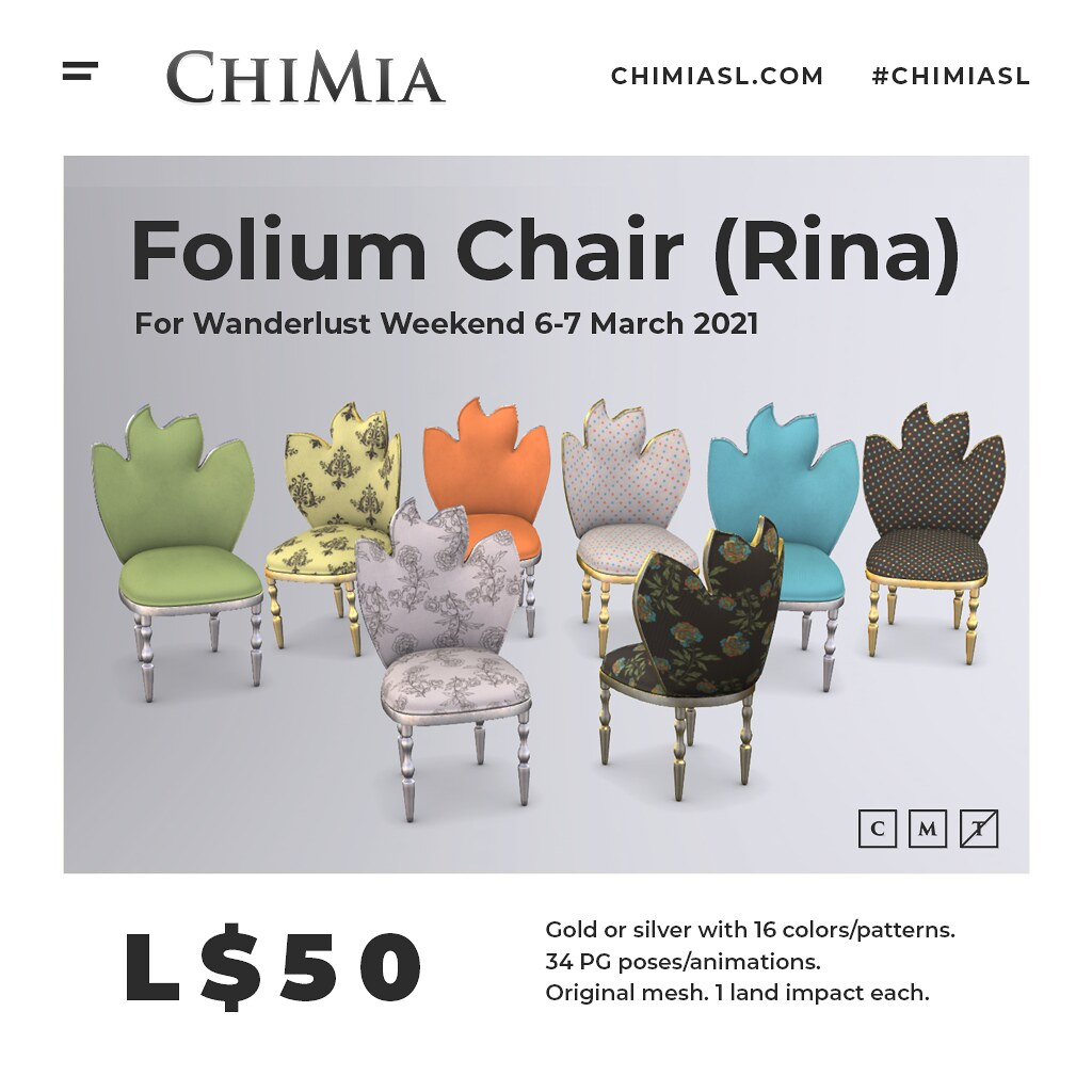 Folium Chair (Rina) for Wanderlust Weekend by ChiMia