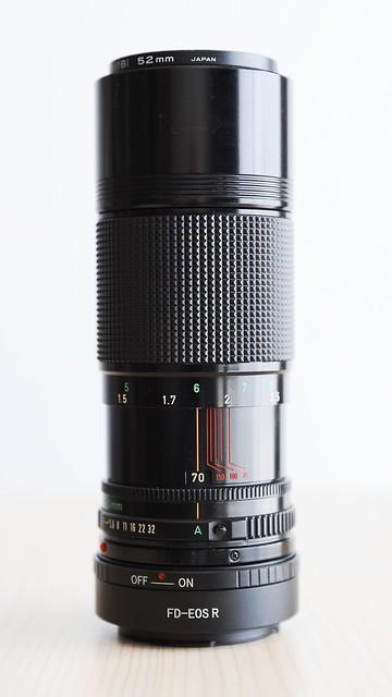 Canon New FD70-150mm F4.5 (1979).