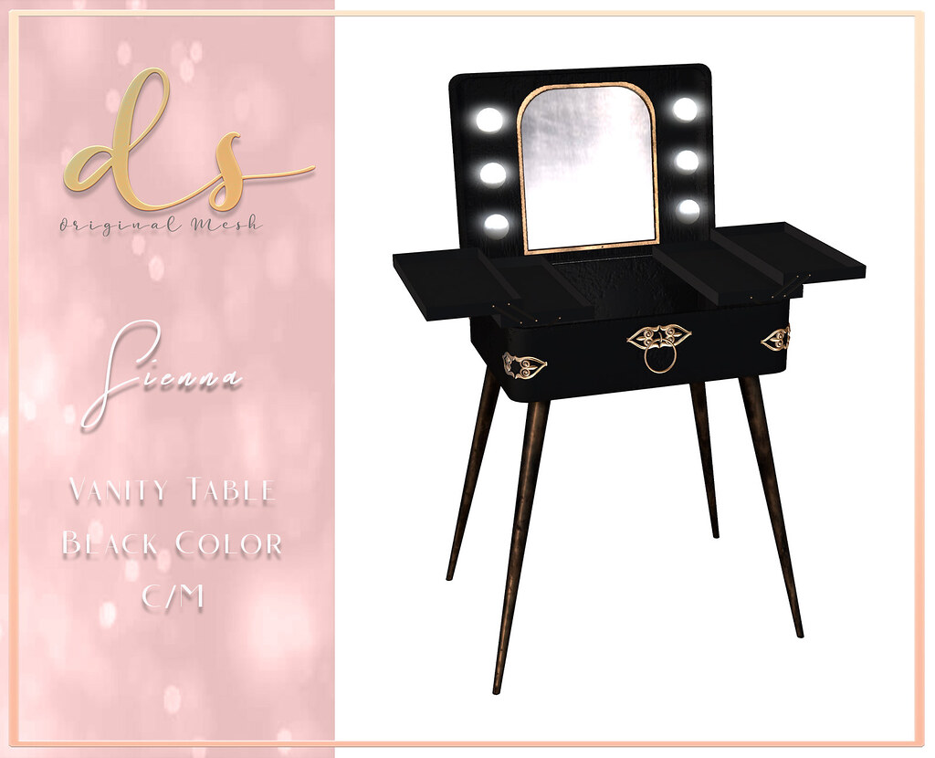 Dark Secrets – Sienna Vanity Table – Dark