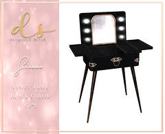 Dark Secrets - Sienna Vanity Table - Dark