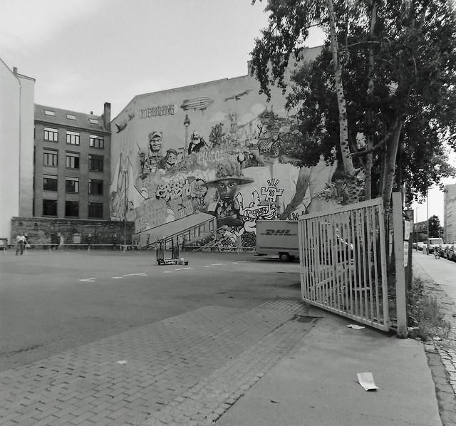 Kunst an der Wand Berlin Kreuzberg 24.7.2020