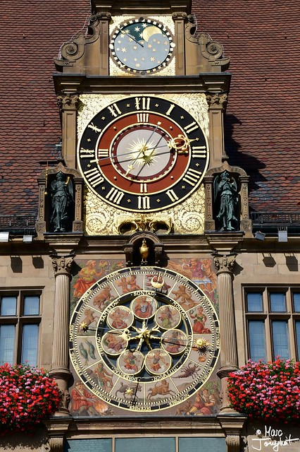 Astronomical city hall clock
