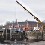 Repairing the gates at Preston Docks