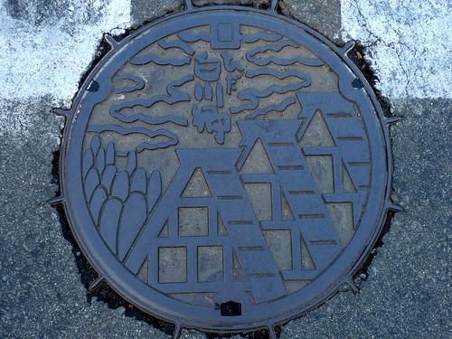 Shirakawa Gifu, manhole cover (岐阜県白川村のマンホール)