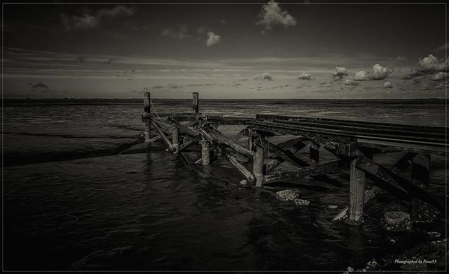 Husum - Nordseeküste - Maroder Anleger