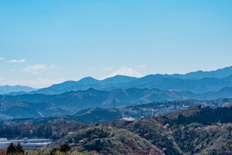 多峯主山から見える富士山