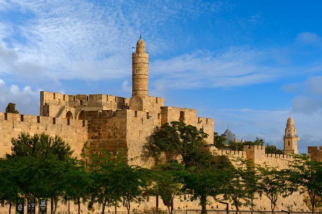 Jerusalem / Citadel wall / Minaret