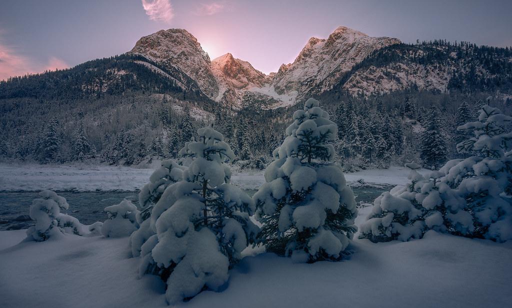 The alpine wintersunset