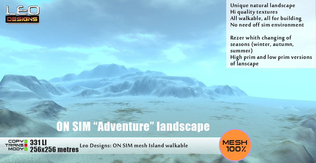 "ON SIM landscape ""Adventure"" (256×256) walkable"