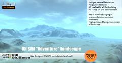 "ON SIM landscape ""Adventure"" (256x256) walkable"