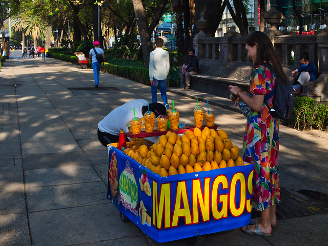 Mango seller in Mexico City