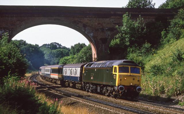 47500 In Harbury Cutting. 16/08/1987.