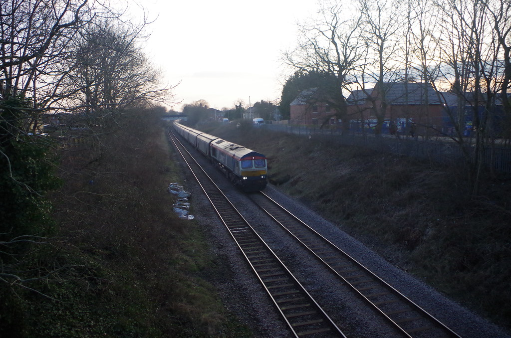 060321. B M Lane. 66747 Made in Sheffield hauls 6E17 to Drax (7)