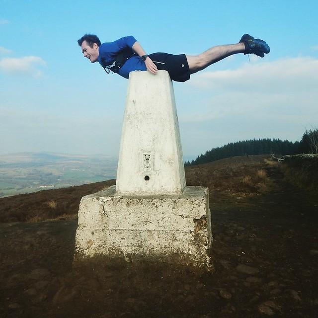 Planking On Longridge Fell Trig