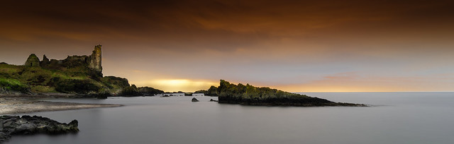 Peaceful and tranquil. Dunure Castle.