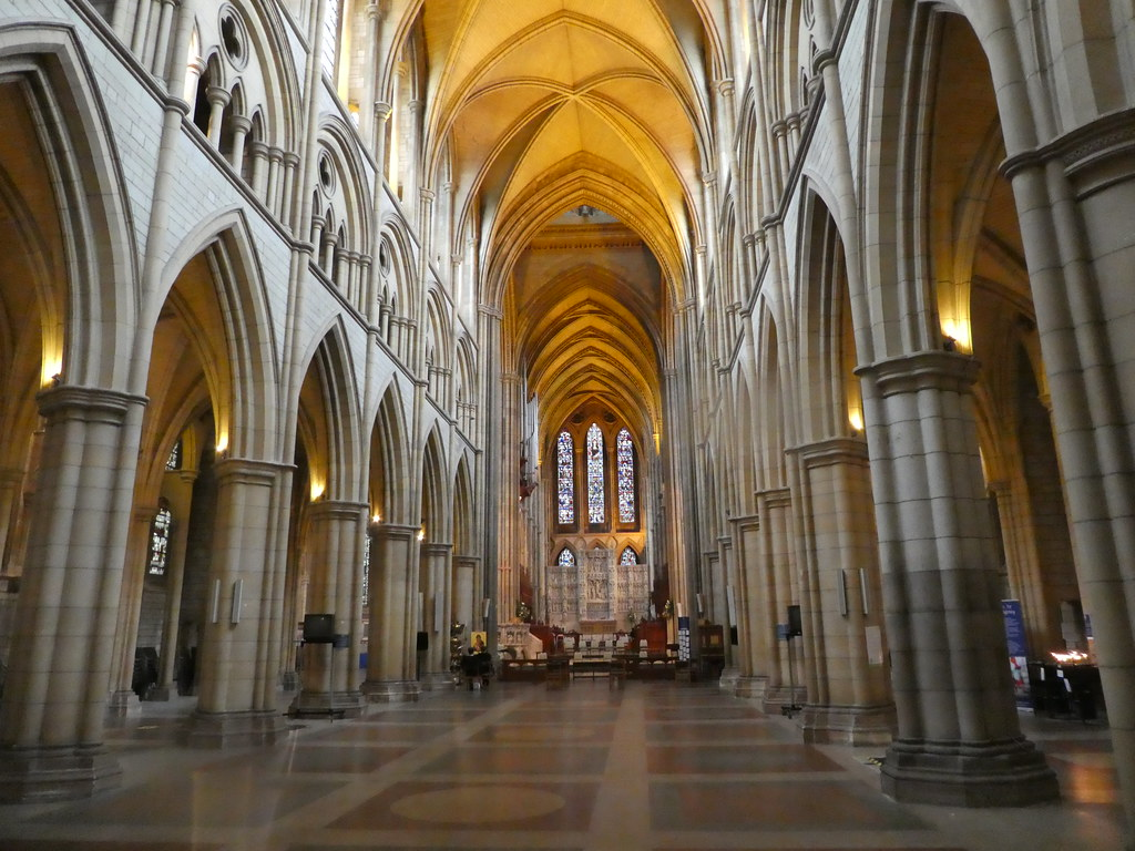 The interior of Truro Cathedral