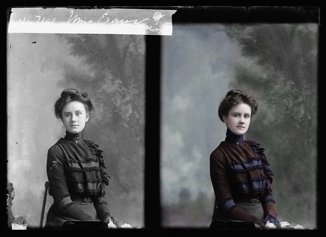 Miss M. Evans between 1894-1901