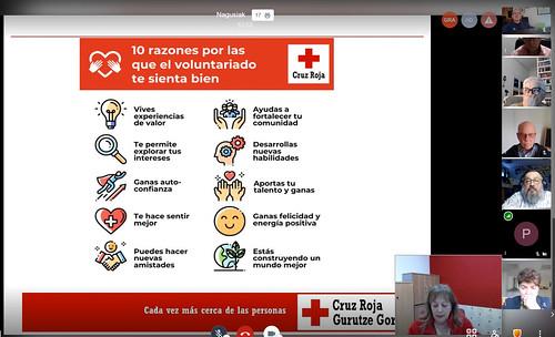 Voluntariado en Cruz Roja: 7º Videoconferencia NagusIkas 3-3-2021