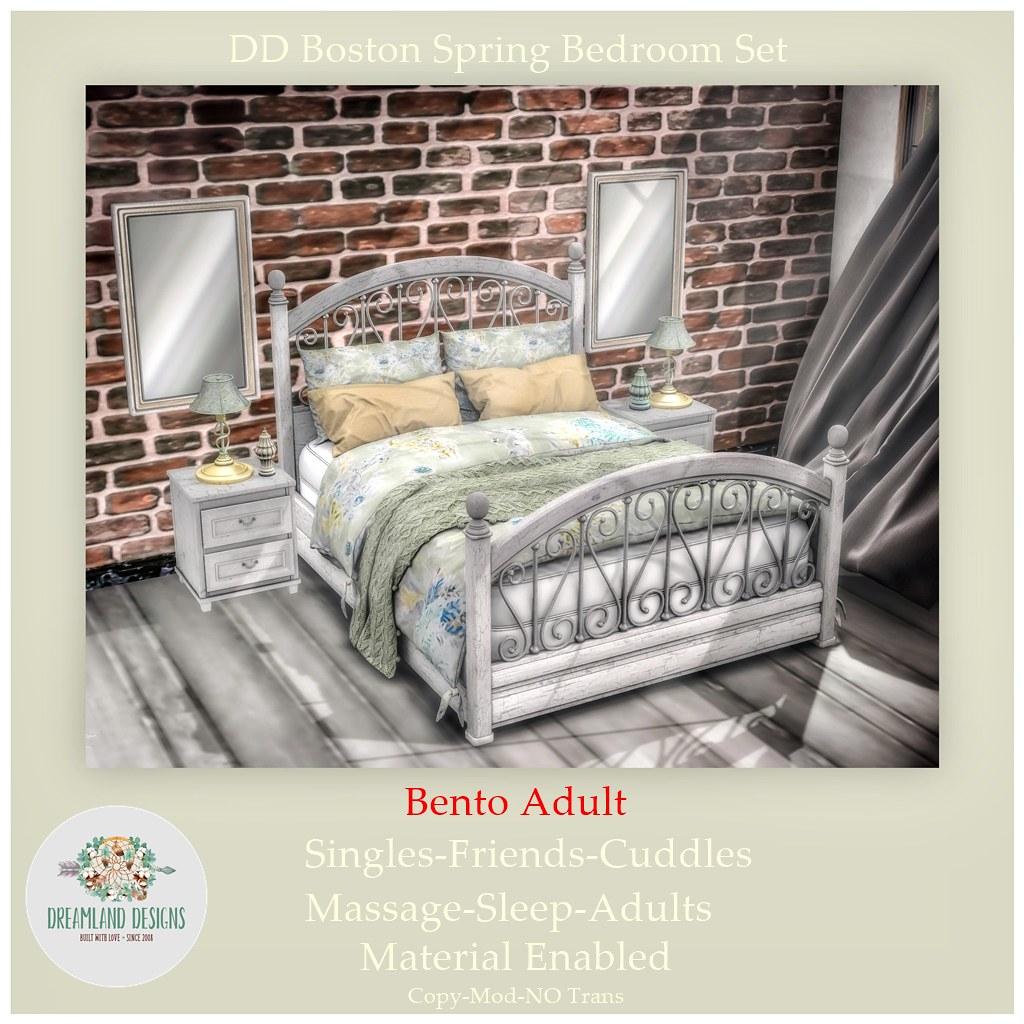 DD Boston Spring Bedroom Set-Adult
