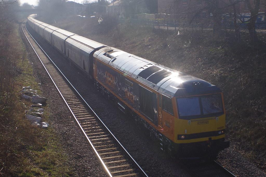 060321. B M Lane. 60002 Graham Farish heads 6E10 to Drax (5)