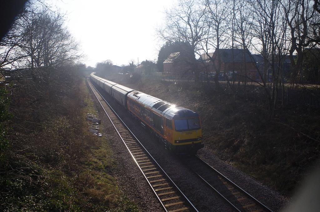 060321. B M Lane. 60002 Graham Farish heads 6E10 to Drax (2)