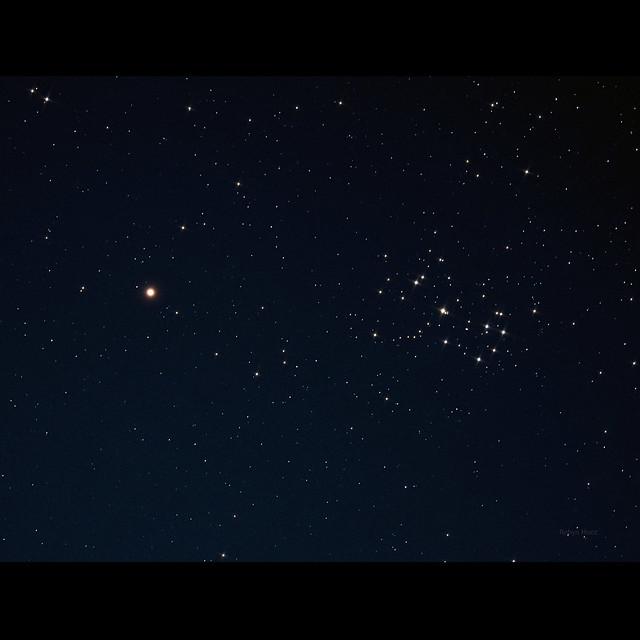 Mars and Pleiades