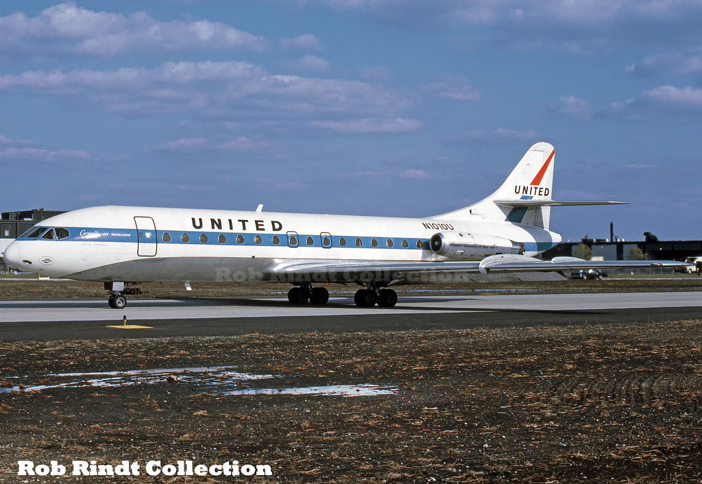 United Airlines SE-210 Caravelle-6R N1010U