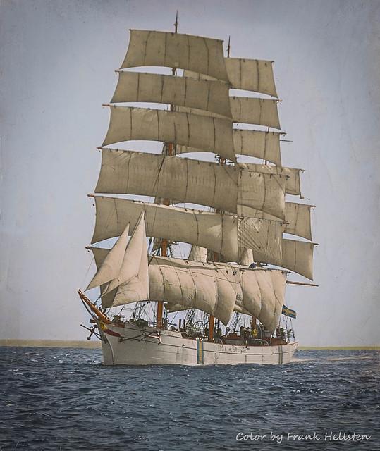 Three-masted ship Vinga (ab.) 1917