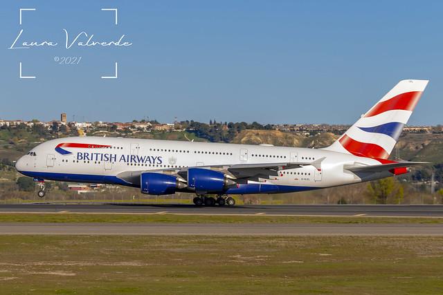 British Airways A380 G-XLEL