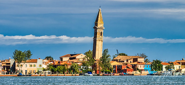A leaning tower on Burano Island