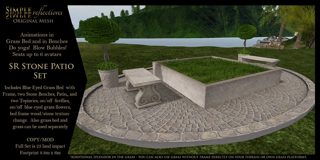 SR Stone Patio Set