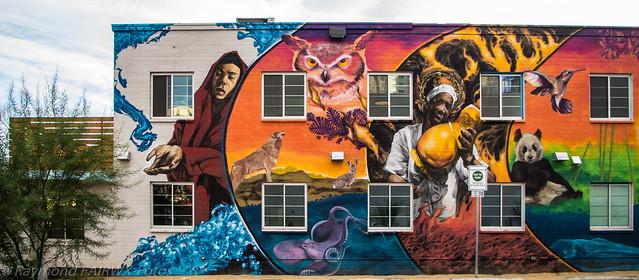 Las Vegas building mural