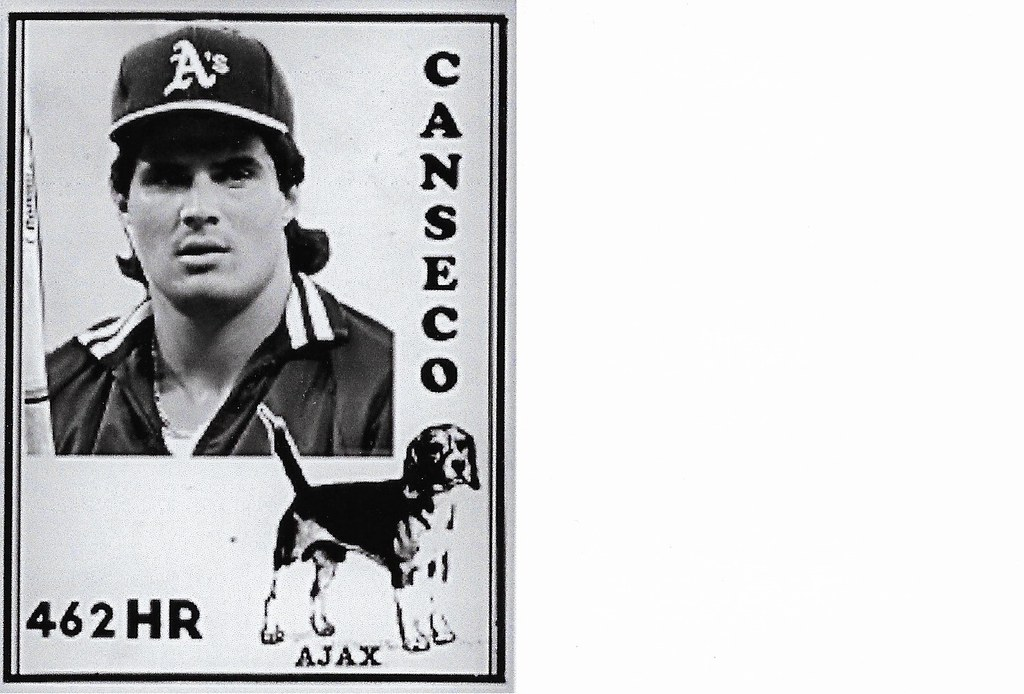 2020 Ajax Dog Food Retro Blank Back - Canseco
