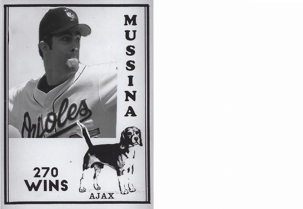 2020 Ajax Dog Food Retro Blank Back - Mussina, Mike