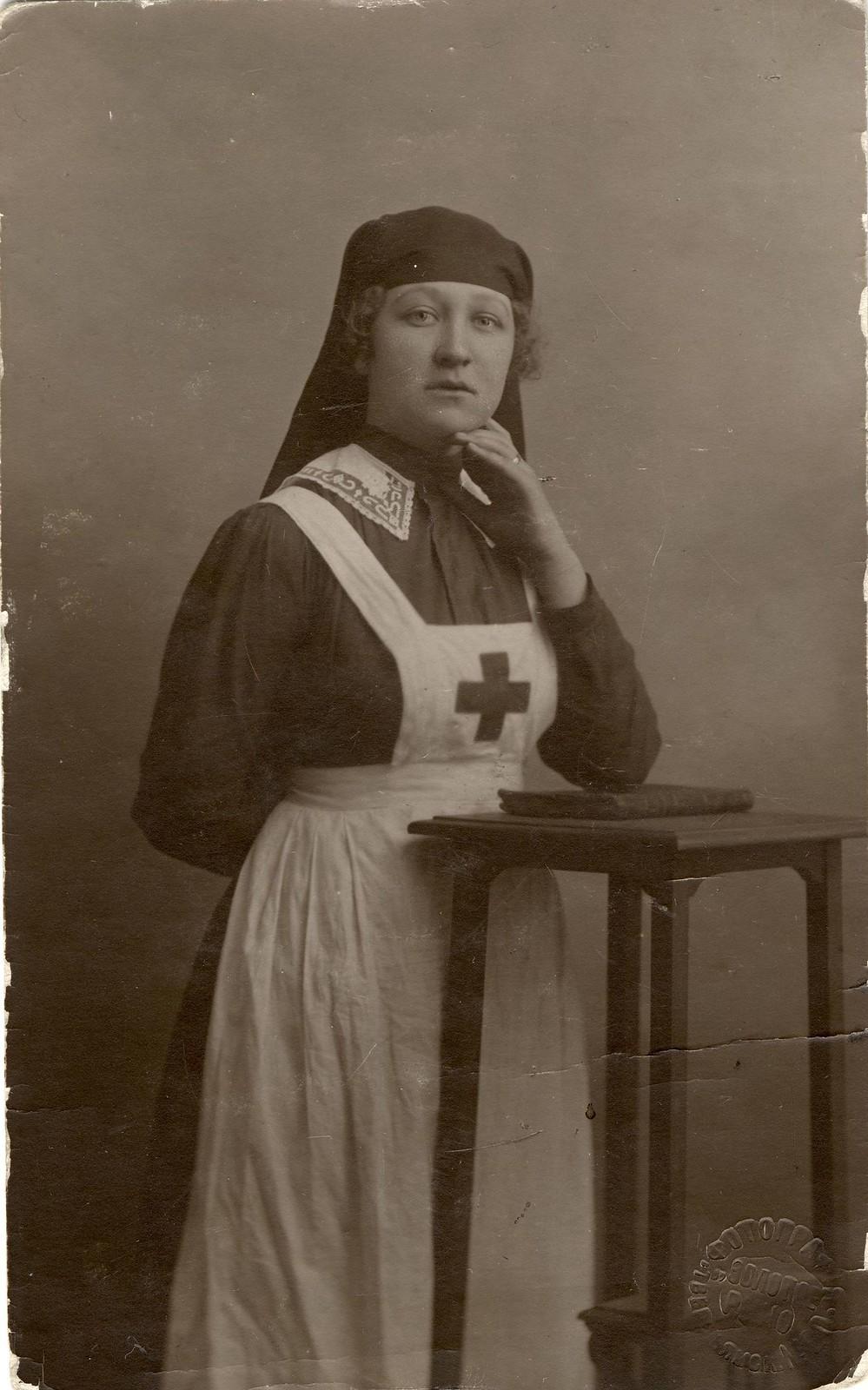 1917. Санитарка Красного керста, иркутянка Жилкина Н., погибшая на фронте