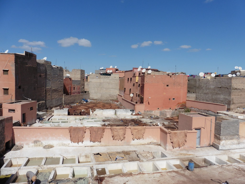 Tannery in Marrakech, Morocco