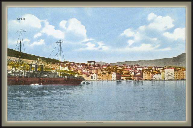 8268 R Split G.A.M. Old Postcard  ~ 1911. sent 26.VII.1925.