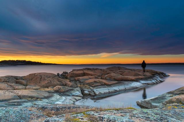 Sunset at Hvaler, Norway