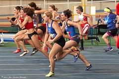 Deporte. Atletismo Máster. Campeonato de Cataluña de Indoor. Palau Sant Jordi. 60 m.ll.