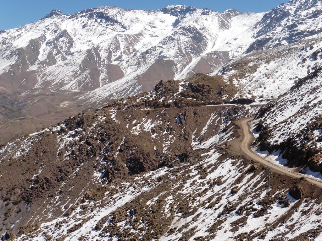 Snow capped Atlas Mountains Morocco